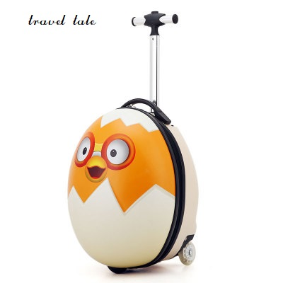 Lovely, cartoon 3D egg ABS+PC 16 inch size Rolling Luggage Spinner childrens Travel Suitcase Lovely, cartoon 3D egg ABS+PC 16 inch size Rolling Luggage Spinner childrens Travel Suitcase