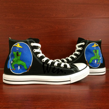 Wen Black Design Custom Hand Painted Shoes Grateful Dead Shakedown Street Men Women's High Top Canvas Sneakers