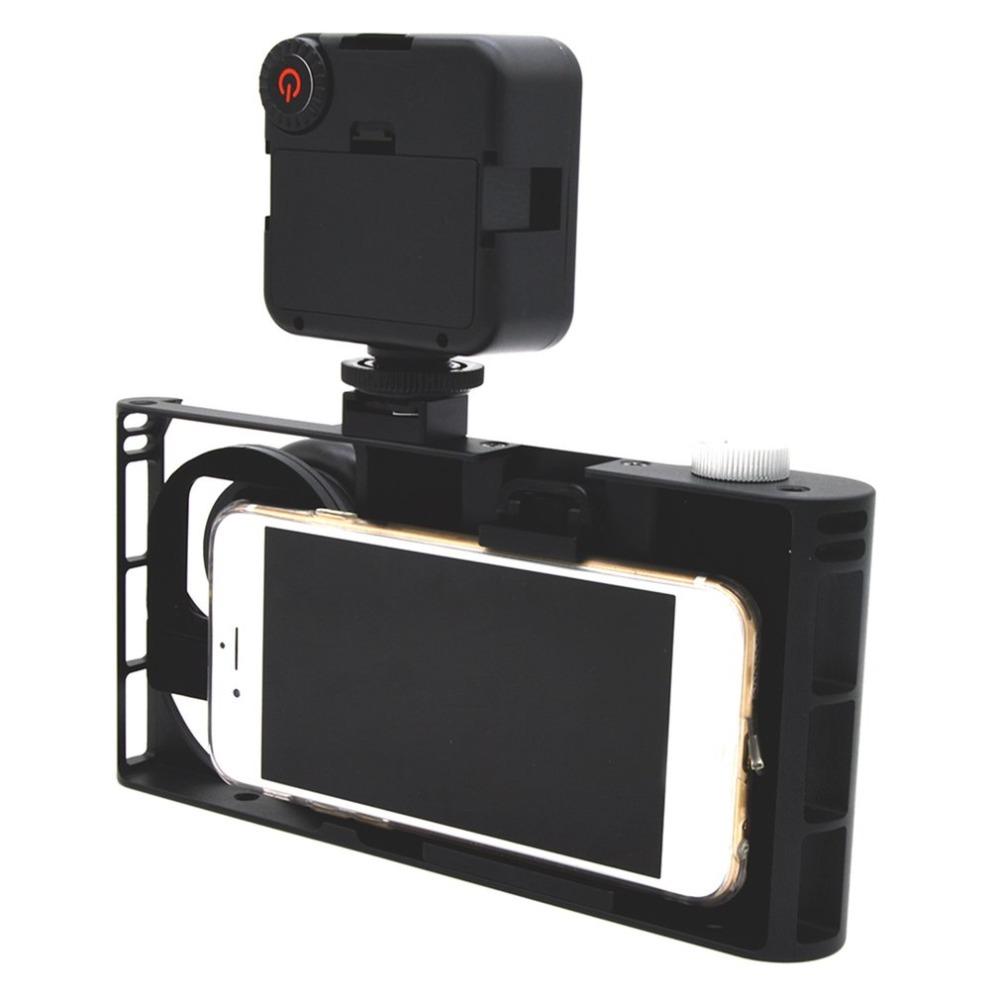 все цены на Universal Lightweight Mobile Phone Video Rig Stabilizer Cage Aluminum Alloy Cage Suiatble for iPhone 8/7 plus