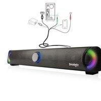 Hot 2019 Bluetooth Speaker 10W Wireless Sound Bar Portable 2.0 Channel Multimedia Speaker System TF Slot Aux 3D HiFi Stereo