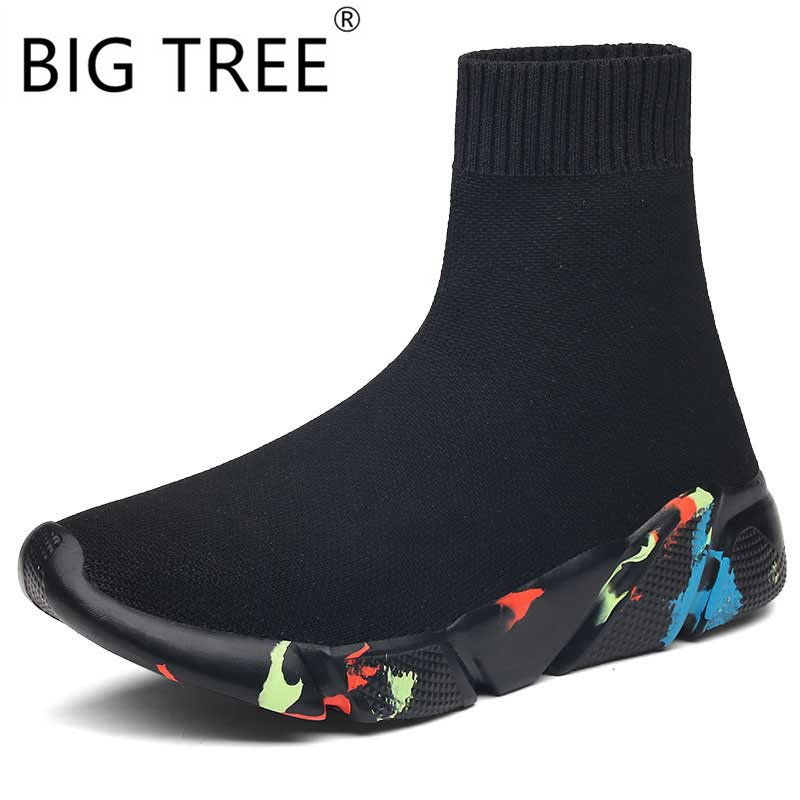 High Top Casual Shoes Vulcanized Shoes Plus Size Socks Shoes Women Slip-on Stretch Platform Dad Shoes Black Sapato FemininoHigh Top Casual Shoes Vulcanized Shoes Plus Size Socks Shoes Women Slip-on Stretch Platform Dad Shoes Black Sapato Feminino