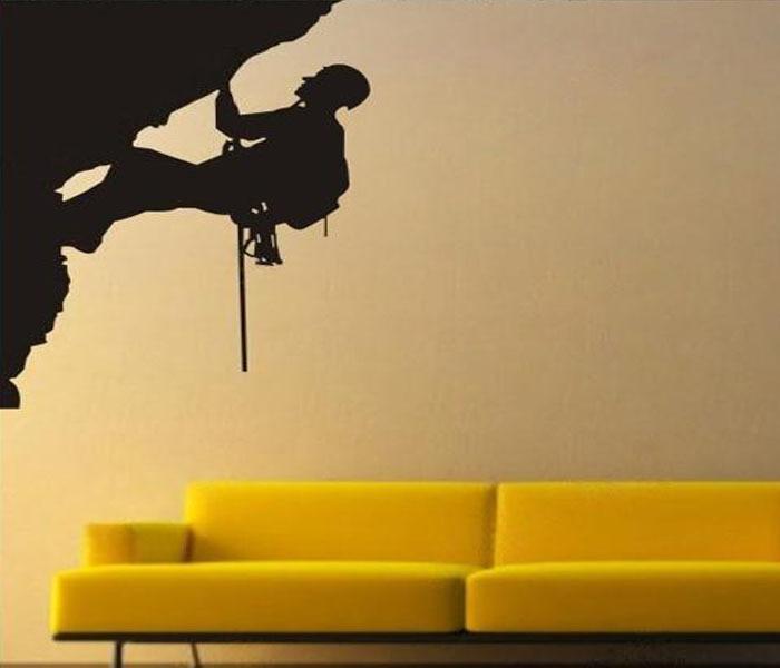 Funky Climbing Man Wall Decor Illustration - All About Wallart ...