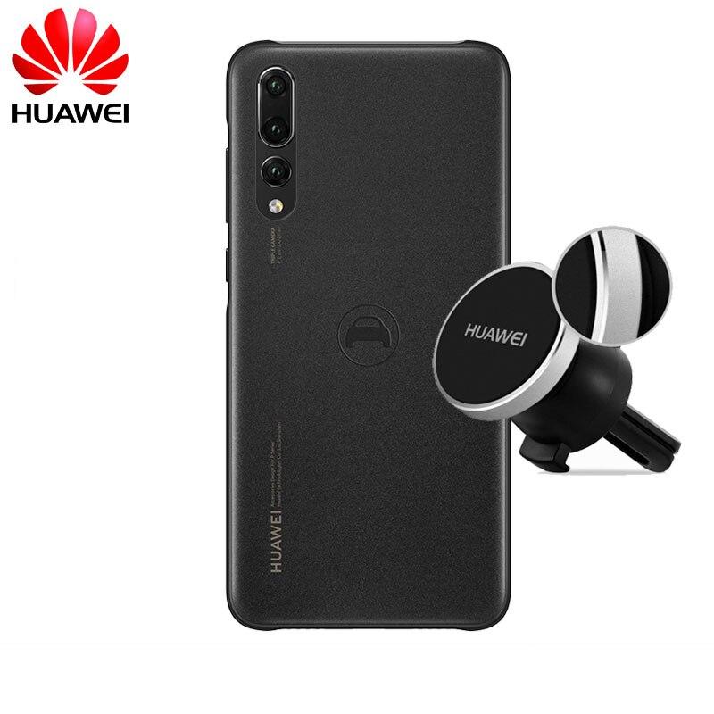 D'origine Huawei P20 Pro Officiel PC Dur Couverture Arrière Voiture Navigation Kit support magnétique Téléphone étui pour Huawei P20 Pro