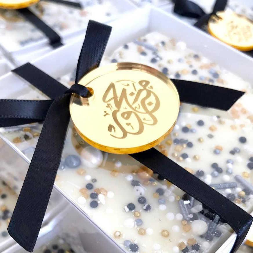 50 * Pribadi Pengantin Pembaptisan Terukir Bening Dekorasi Bulat Koin Table Centerpiece Dekorasi Lingkaran: untuk Pernikahan & Interaksi