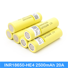 hot deal buy original he4 2500mah li-lon battery 18650 3.7v power rechargeable batteries max 20a,35a discharge for e-cigarette power tools au