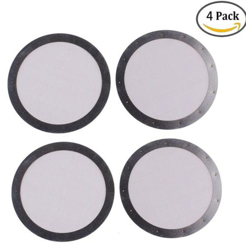4pcs  Metal Coffee Filter Reusable Stainless Steel Mesh For Aeropress Pro