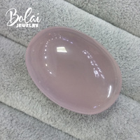 Bolaijewelry,100% Natural big oval rose quartz 30.78*43.08*17.55mm 163.55ct loose gemstone for jewelry