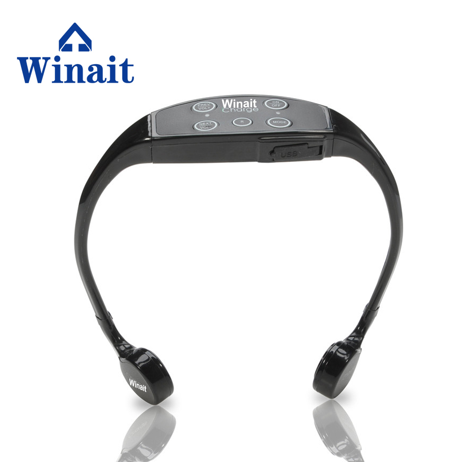 Winait IPX12 Level waterproof Wireless Headset bone conduction Support Mp3 Stereo Music Headphones Earphone Built-in FM Function стоимость