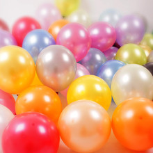 HOT  100pcs/lot 10 inch1.5g Latex balloon Helium Round balloons Multicolor Thick Pearl balloons Wedding Party Birthday Balloons