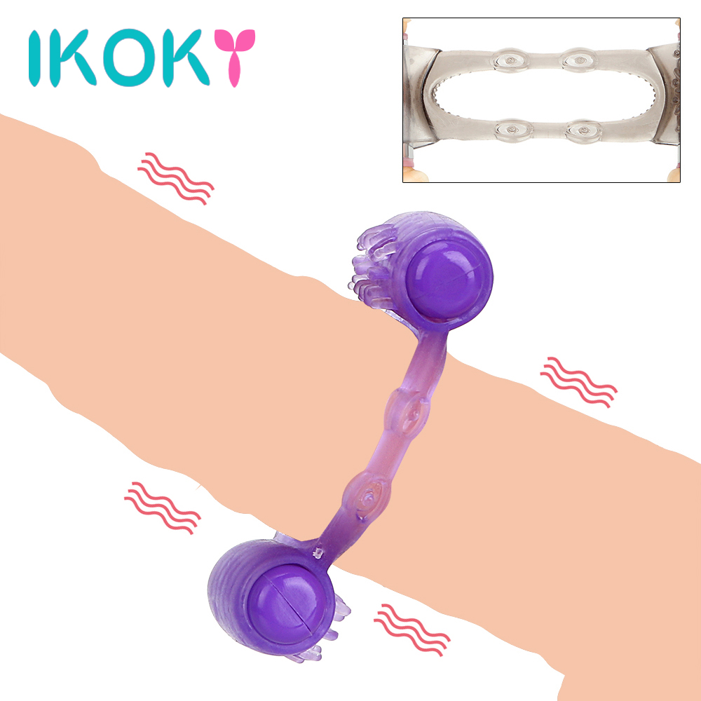 IKOKY Vibrating Ring Dual Motor Cock Ring Vibrator Sex Toys for Men Male Penis Ring Delay Ejaculation Clit Stimulator Sex ShopIKOKY Vibrating Ring Dual Motor Cock Ring Vibrator Sex Toys for Men Male Penis Ring Delay Ejaculation Clit Stimulator Sex Shop