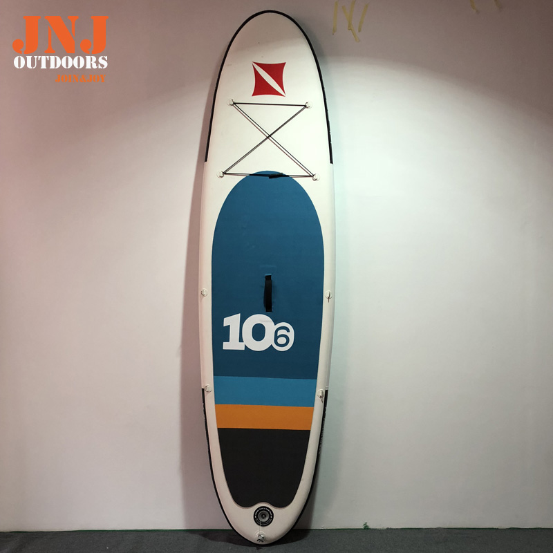 10'6 Best quality inflatable sup board isup with bag and accessories funny summer inflatable water games inflatable bounce water slide with stairs and blowers