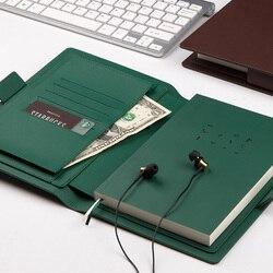 Negocio de alta calidad reunión cuero Agenda espesar Filofax planificador escolar recargable Notebook moda Bullet diario Bujo 2019