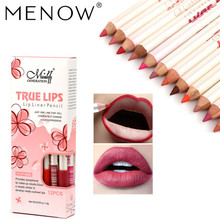 12 Colors Menow Lip Liner Multi-functional Lipliner Pencil Long Lasting Waterproof Eye Brow Cosmetic Makeup Colorful Pens