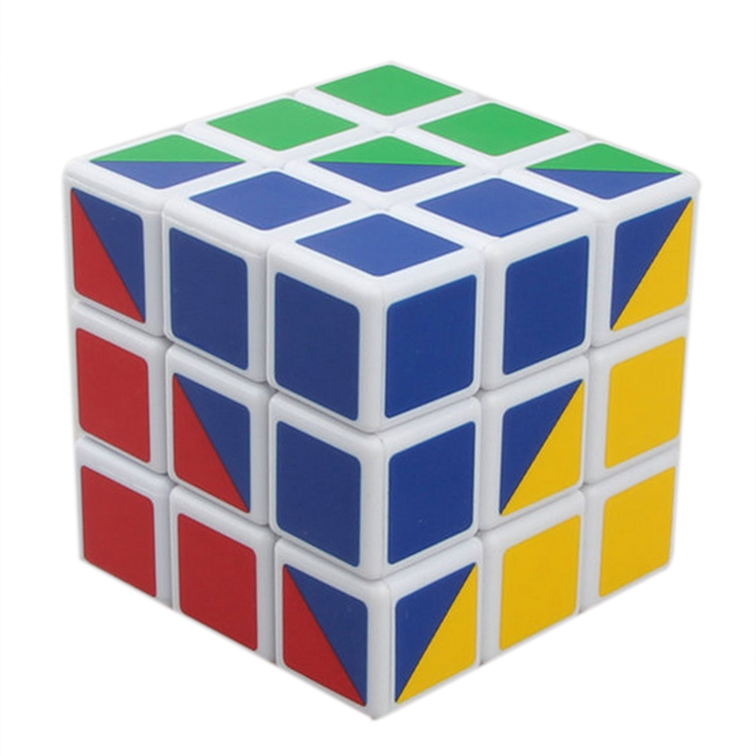 X-cube Most Difficult 3X3X3 56mm Magic Speed Cube Four Colors Magic Cube