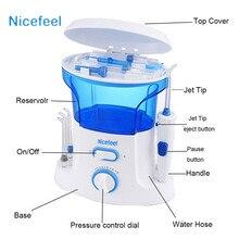 Nicefeel 600 ml Portátil de Aire Dental Floss Agua Flosser Oral Hygience Cuidado cepillo de Dientes Dientes Cleaner Irrigador Cepillo Interdental