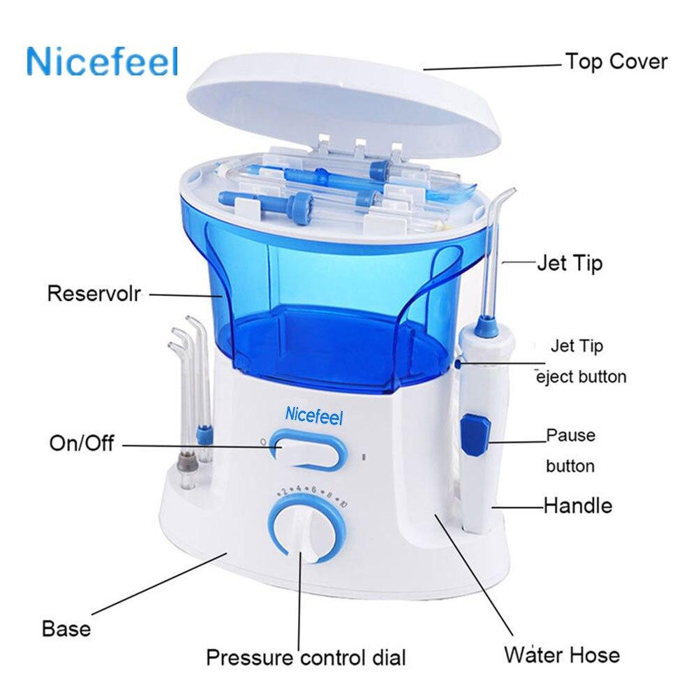 Nicefeel Portable Air Dental Flosser Water Floss Oral Hygience Toothbrush Oral Irrigator Cleaner Irrigator Interdental Brush