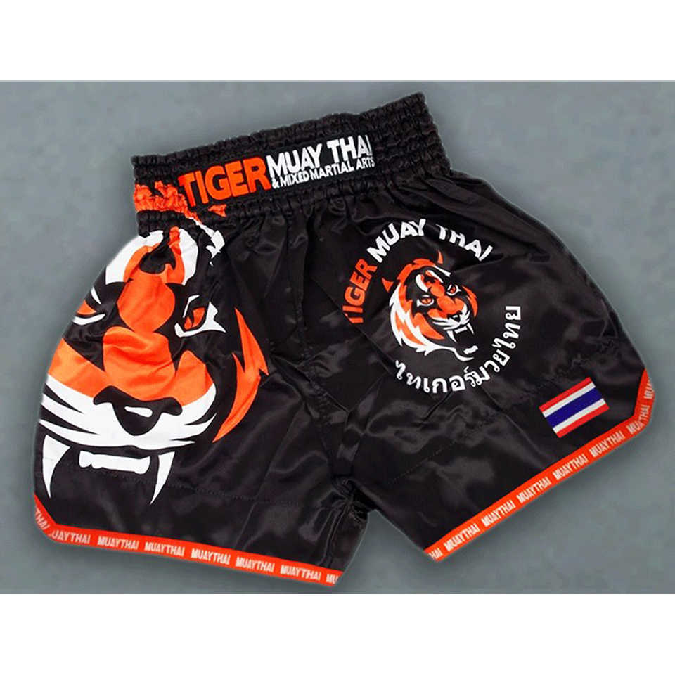 MMA Tiger Muay Thai Tinju Pertandingan Tinju Sanda Latihan Bernapas Celana Pendek Muay Thai Pakaian Melawan Celana Celana Pendek Mma