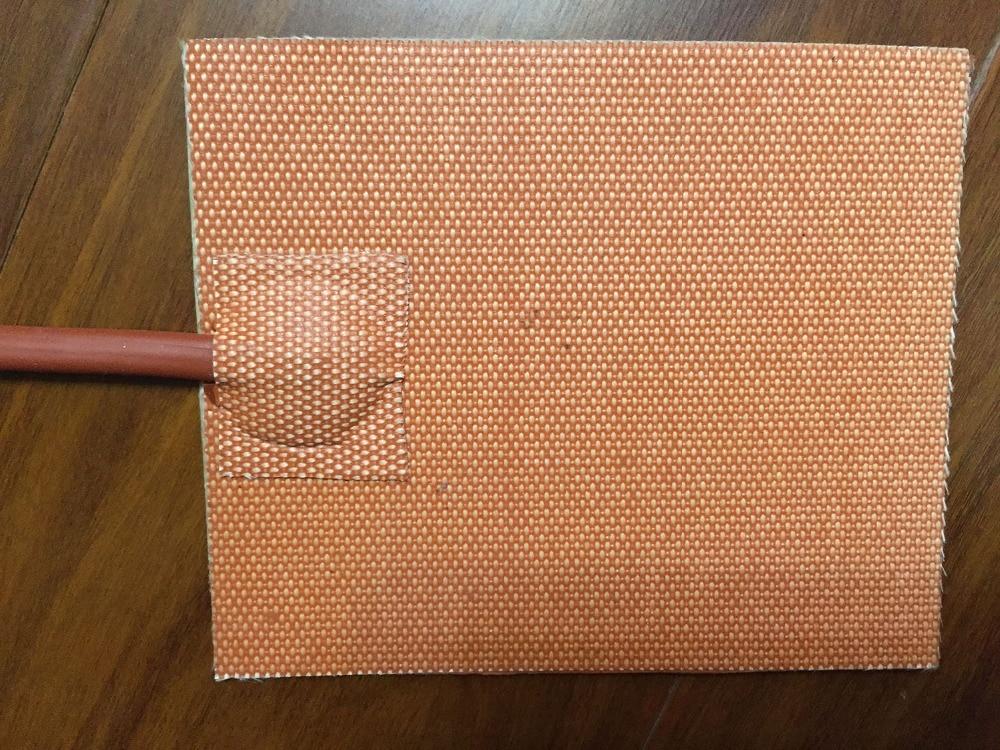 400 w 240 v 245*245 3m adhesive piombo filo di silicone flessibile gomma 3d stampante riscaldatore silicone heater element heat