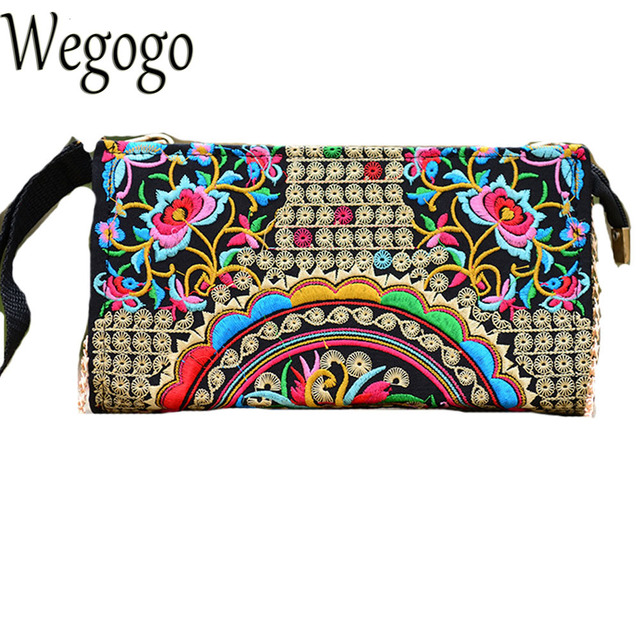 Women Day Clutch Chinese Ethnic National Embroidery Bags Vintage Hmong Thai  Indian Boho Chain Embroidered Shoulder Messenger Bag 286fe1a3a1846