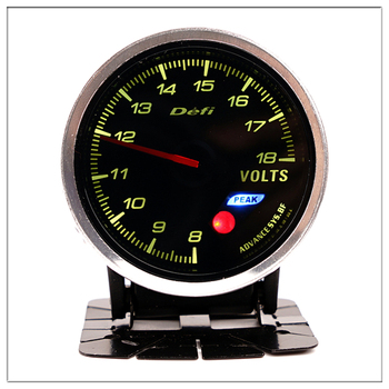 DEFI Car Voltmeter For BMW E 30 34 36 38 39 46 53 60 82 83 87 90 92 F 11 20 Mini Round black pointer boost gauge saat 60mm image