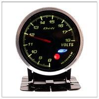 DEFI Car Voltmeter For BMW E 30 34 36 38 39 46 53 60 82 83 87 90 92 F 11 20 Mini Round black pointer boost gauge saat 60mm