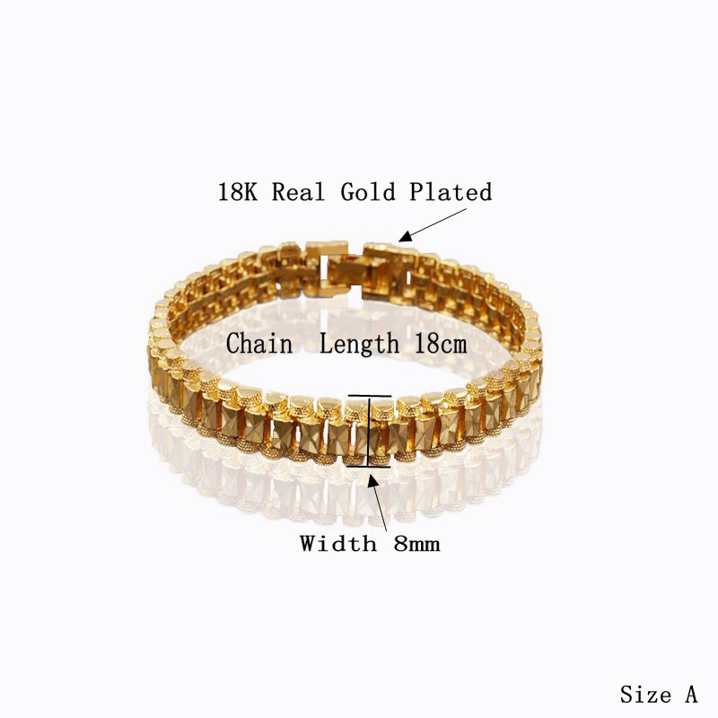 Male Bracelet Women Jewelry 12MM Pulseira Masculine Trendy Gold Color Chunky Chain Link Bracelet Wholesale Bileklik For Man P166 5