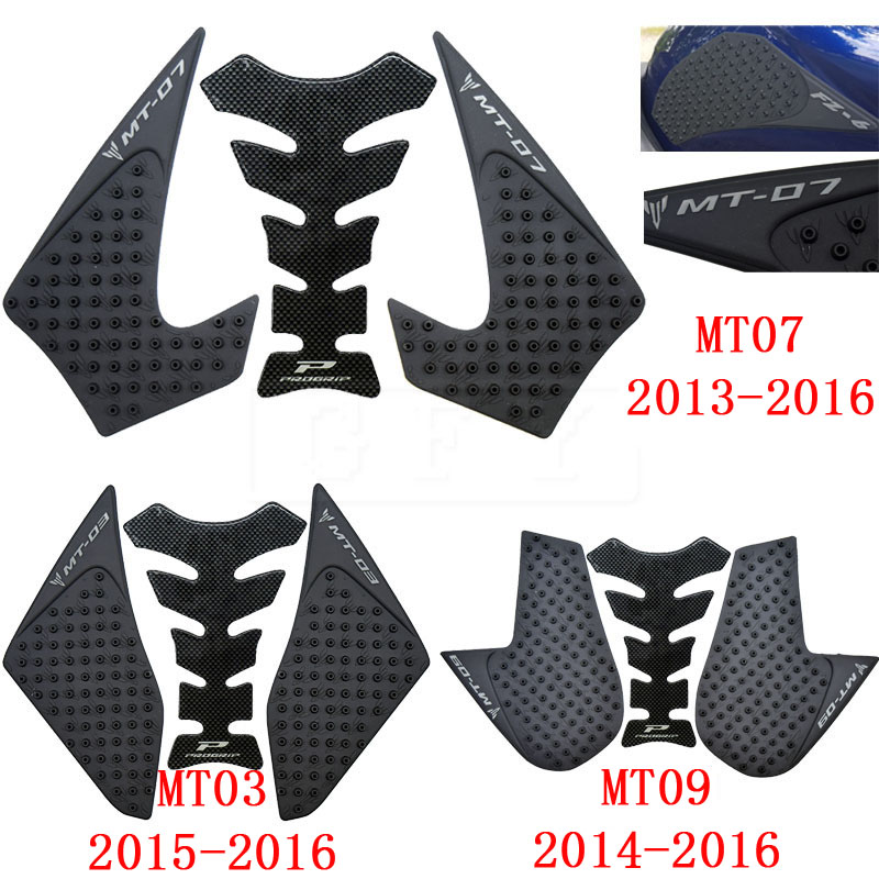 Original Bjmoto New Mt03 Mt 03 Motorcycle Tank Pad Protector Sticker Decal Gas Fuel Knee Grip Traction Side For Yamaha Mt-03 2015-2018 Motorcycle Accessories & Parts