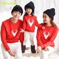 Keaiyouhuo 2017 camisa blusas de natal olhar família mãe filha roupas família filho pai roupas combinando família clothing