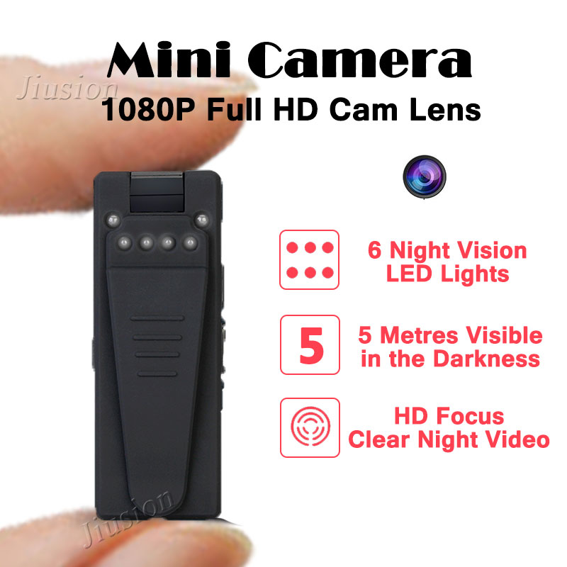 1080P Mini Camera HD Video Recorder Camcorder with 6pcs Night Vision Lights Motion Sensor Webcam DV DVR Audio Micro Secret Cam mini dv md80 dvr video camera 720p hd dvr sport outdoors with an audio support and clip