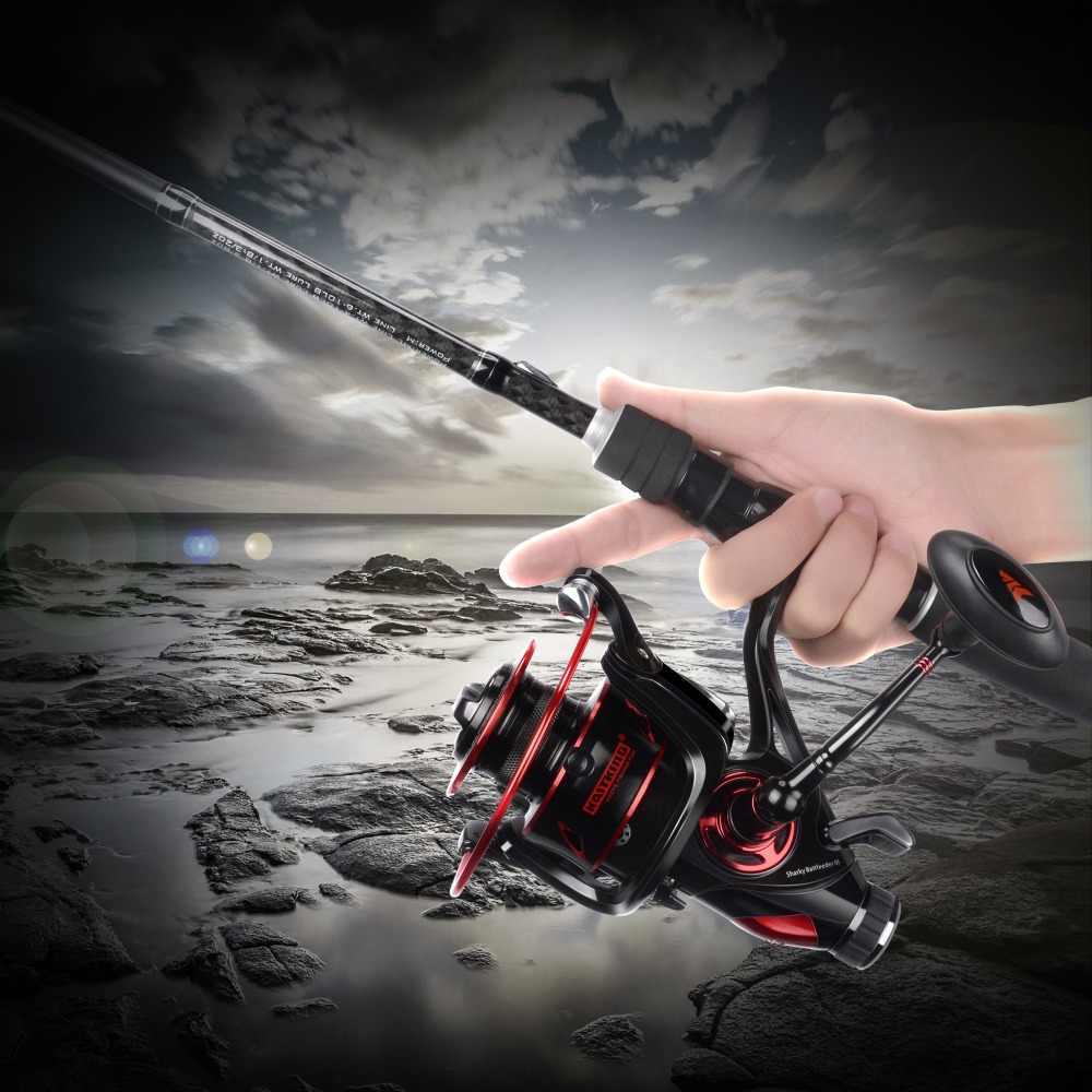 KastKing Sharky Baitfeeder III 12KG przeciągnij kołowrotek karpiowy z dodatkowym szpuli przedni i tylny System przeciągania słodkowodne Spinning kołowrotek