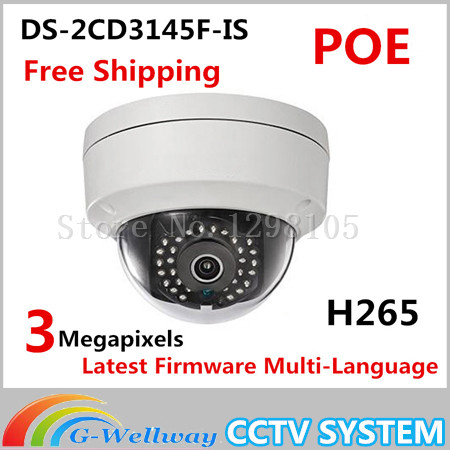2016 Hot Sale Cctv Camaras New Arrival 4mp Camera Original Ds-2cd3145f-is Dome Cameras Poe Cctv Ip Network H265 Ipc original new arrival ds 2cd2t35 i5 3mp exir bullet poe 1080p cameras poe cctv ip network cameras ir h265 ipc