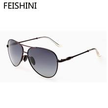 FEISHINI 100% UV Protection Fashion Alloy Glasses Women Brand Designer Elegant TAC Strengthen Lens Sunglasses Women Polarized