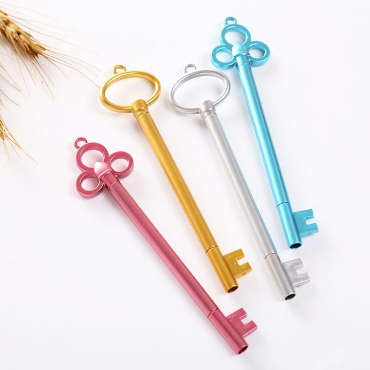Novelty Restore Ancient Ways Golden Key Gel Pen Ink Marker Pen School Office Supply Escolar Papelaria