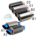 36-51/61MM Universal Motorcycle Exhaust Modified Muffler pipe For most motorcycles CB400 CBR600 YZF Z800 R1 ER6 TTR GSXR750 EVO