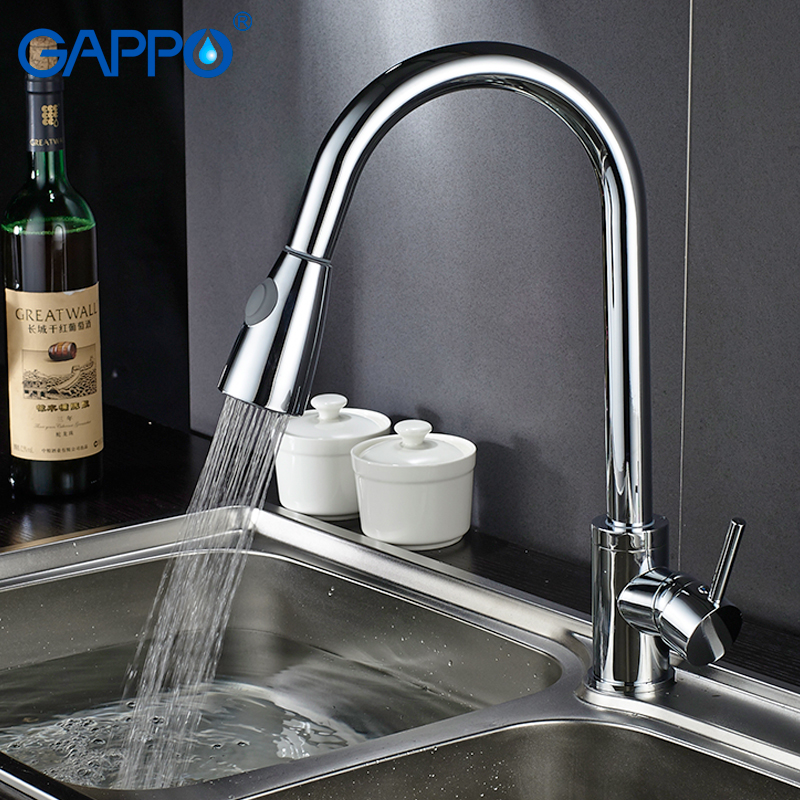 Gappo kitchen Faucets pull out water mixer rotatable kitchen water sink mixer tap flexible faucet kitchen