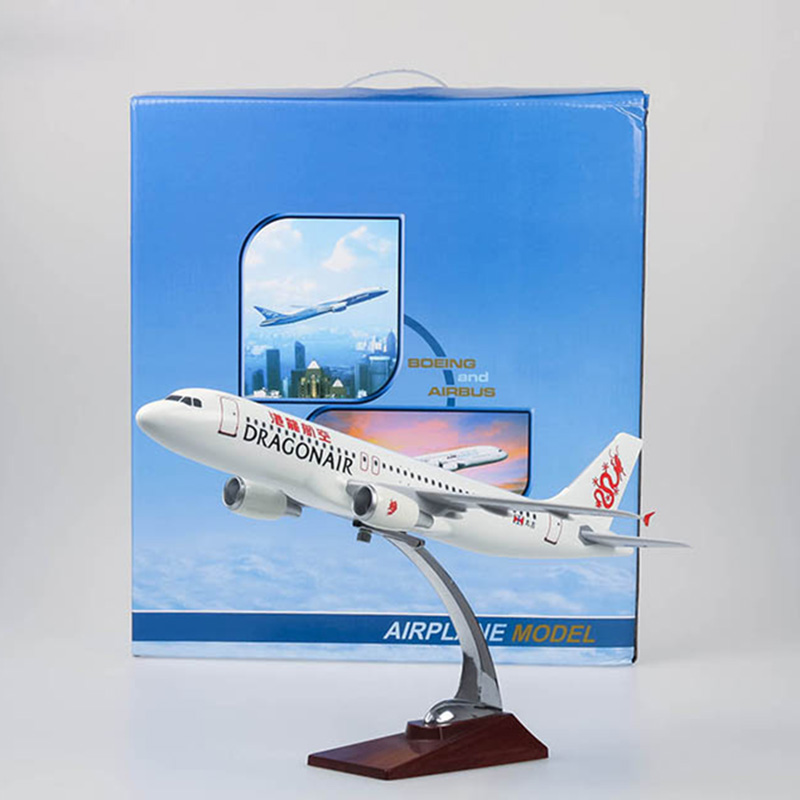 47cm Dragon Airlines Airplane Model A320-200 Resin Hongkong Caythay Dragon Cargo Air Plane Model Toys Collections Aircraft 1:150 phoenix 10973 b777 200f b 2041 1 400 chinese southern airlines cargo plane commercial jetliners plane model hobby