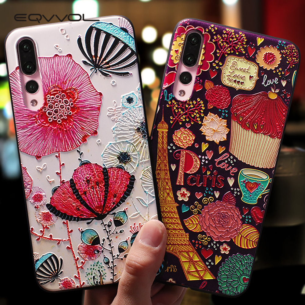 Eqvvol Cute Cartoon Patterned Phone Case For Huawei P20 P10 P9 Lite Pro Cases Ultra-thin TPU Cover For Honor 8 9 10 Lite Mate 10(China)