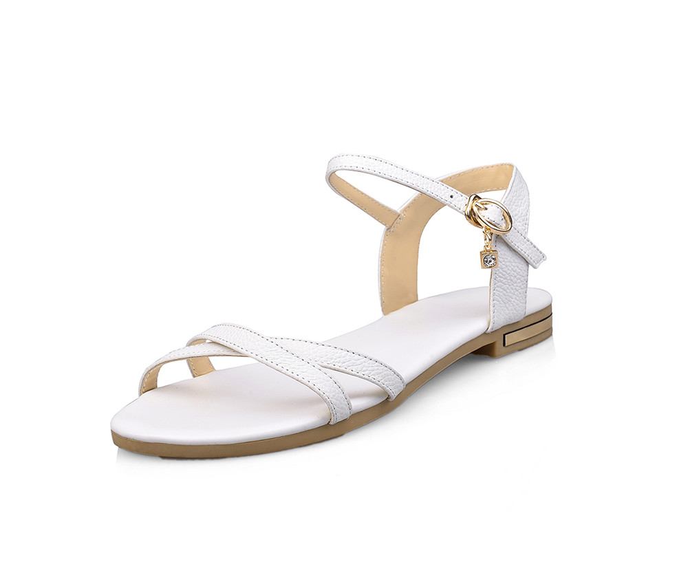 MORAZORA Size 33-46 2019 new arrive women sandals simple buckle summer shoes genuine leather ladies comfortable flat sandals