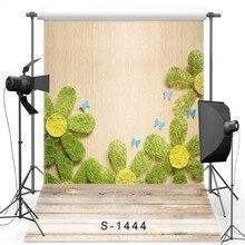 Parede Floral Vinil Backdrop Fotografia Fundo Para Crianças Andar de Novo Tecido de Flanela Para Recém-nascidos photo studio S1444