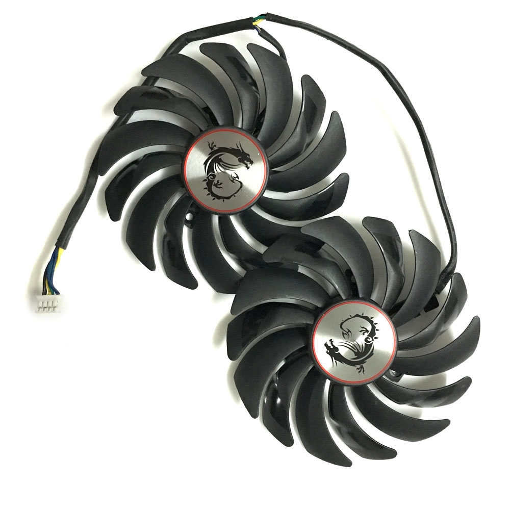 2pcs/lot computer radiator cooler Fans RX470 Video Card cooling fan For MSI RX570 RX 470 GAMING 8G GPU Graphics Card Cooling 2pcs lot computer radiator cooler fans rx470 video card cooling fan for msi rx570 rx 470 gaming 8g gpu graphics card cooling