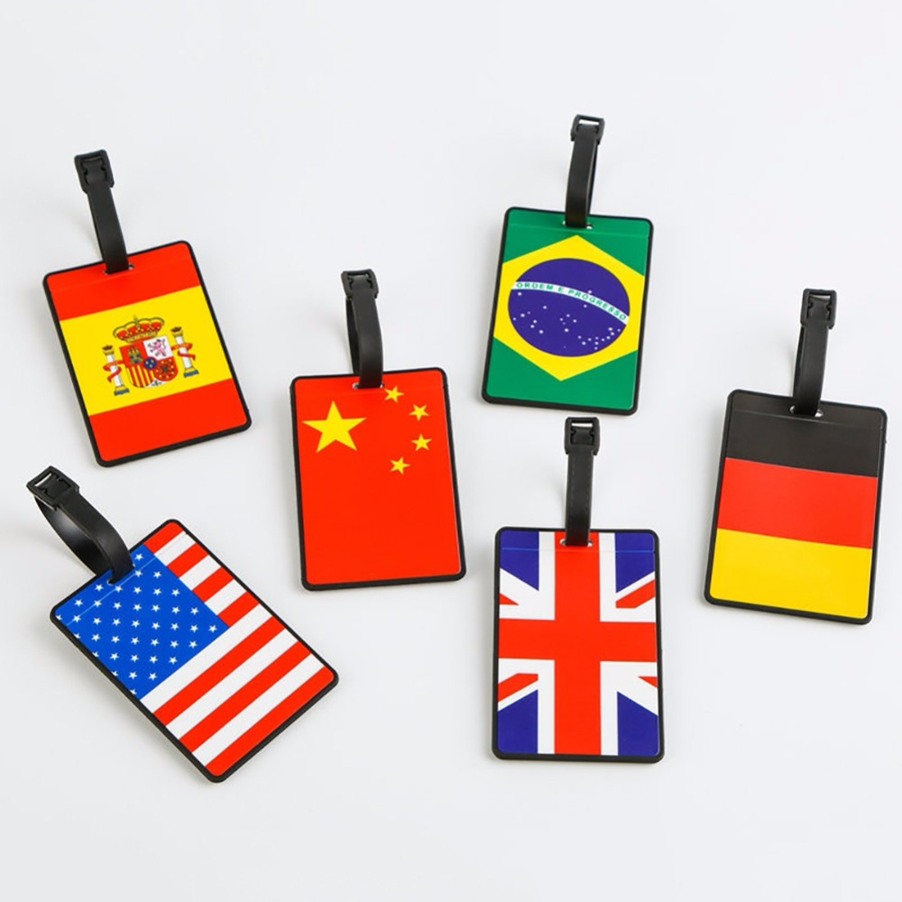 2018 World Souvenir Cup PVC Soft Luggage Bag Tag Brazil Portugal Russia Spain France Argentina Germany Brazil United Kingdom