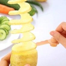 1 шт. морковь спиральная овощерезка Кухня ажурные модели машина для нарезки картофеля Пособия по кулинарии Аксессуары Гаджеты спиральный измельчитель нож гаджеты для дома D5