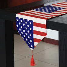 British style usa flag table cloth American country flag gift table cloth table mats bed end flag table runner
