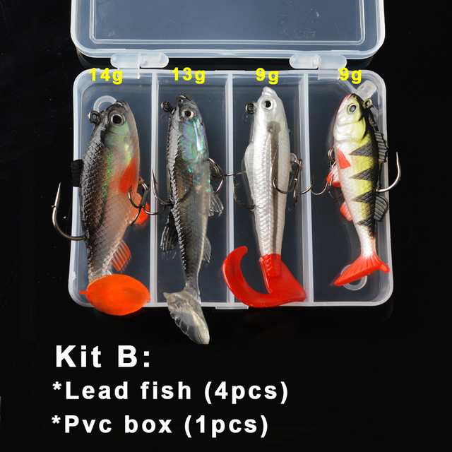 TOMA Soft Lure Kit set 18g 14g 13g 9g 8g Wobblers Artificial Bait Silicone Fishing Lures Sea Bass Carp Fishing Lead Fish Jig 2