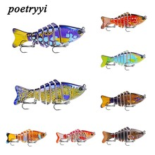 2018 new style painting road lure bait plastic hard 10cm 15.61g multi-section fish bionic fishing wobblers30