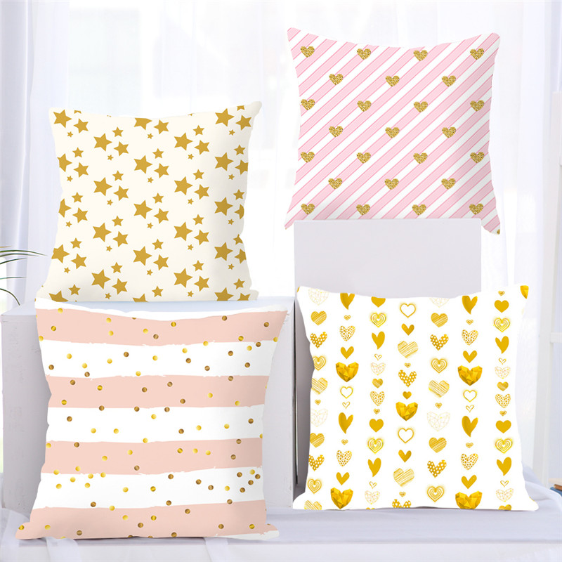 Fuwatacchi Colorful Geometry Pattern Cushion Cover Starry Geometric Printed Pillowcases Pillow Covers Sofa 45x45cm