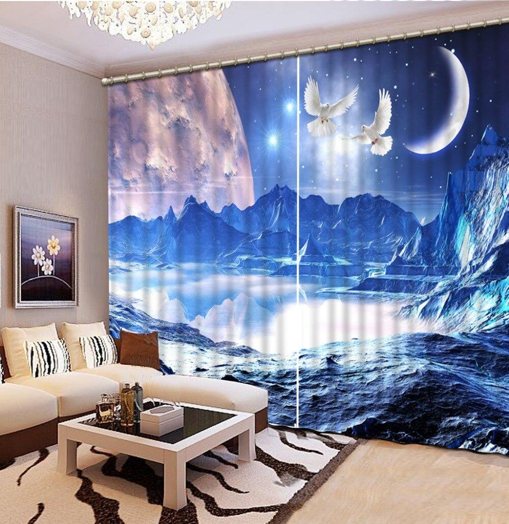 Cortinas para ni os habitaci n azul cielo luz de la luna - Cortinas para la habitacion ...