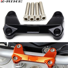 For DUKE 390 200 125 Orange Motorcycle CNC Aluminum Handlebar Risers Mount Top Cover Clamp Fit KTM