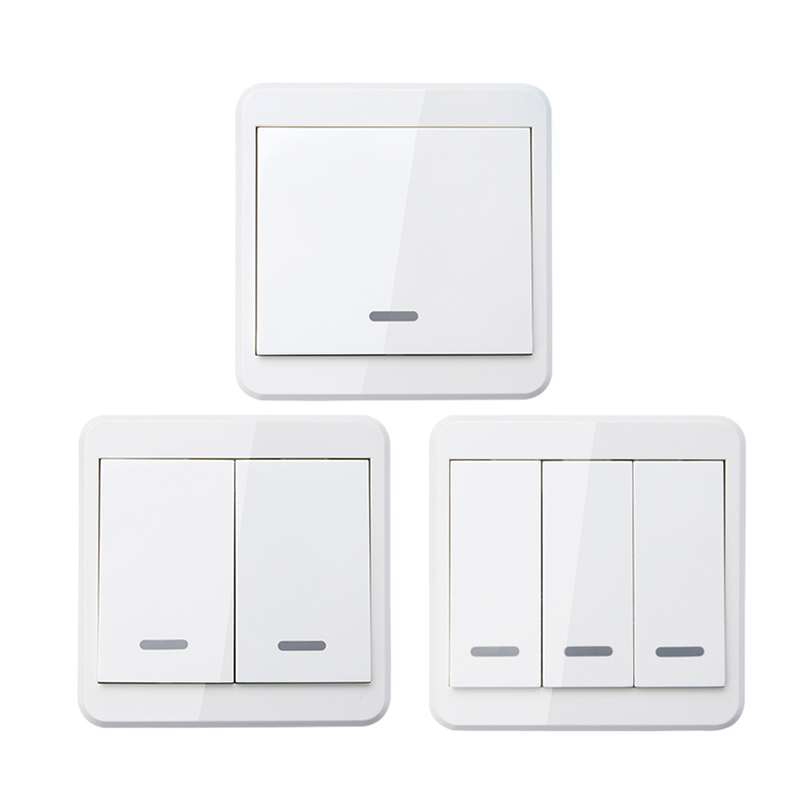 433MHz Portable Remote Mounted Wireless Remote Controls For Light Smart Switch 86 Wall Panel RF Transmitter With 1 2 3 Buttons