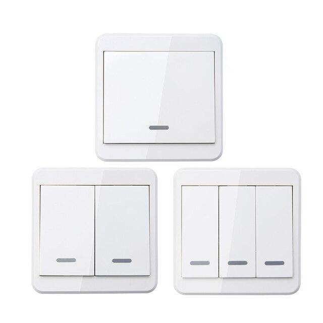 Commandes à distance sans fil portables, 433MHz, pour interrupteur intelligent pour éclairage, panneau mural 86, émetteur RF avec 1, 2 ou 3 boutons